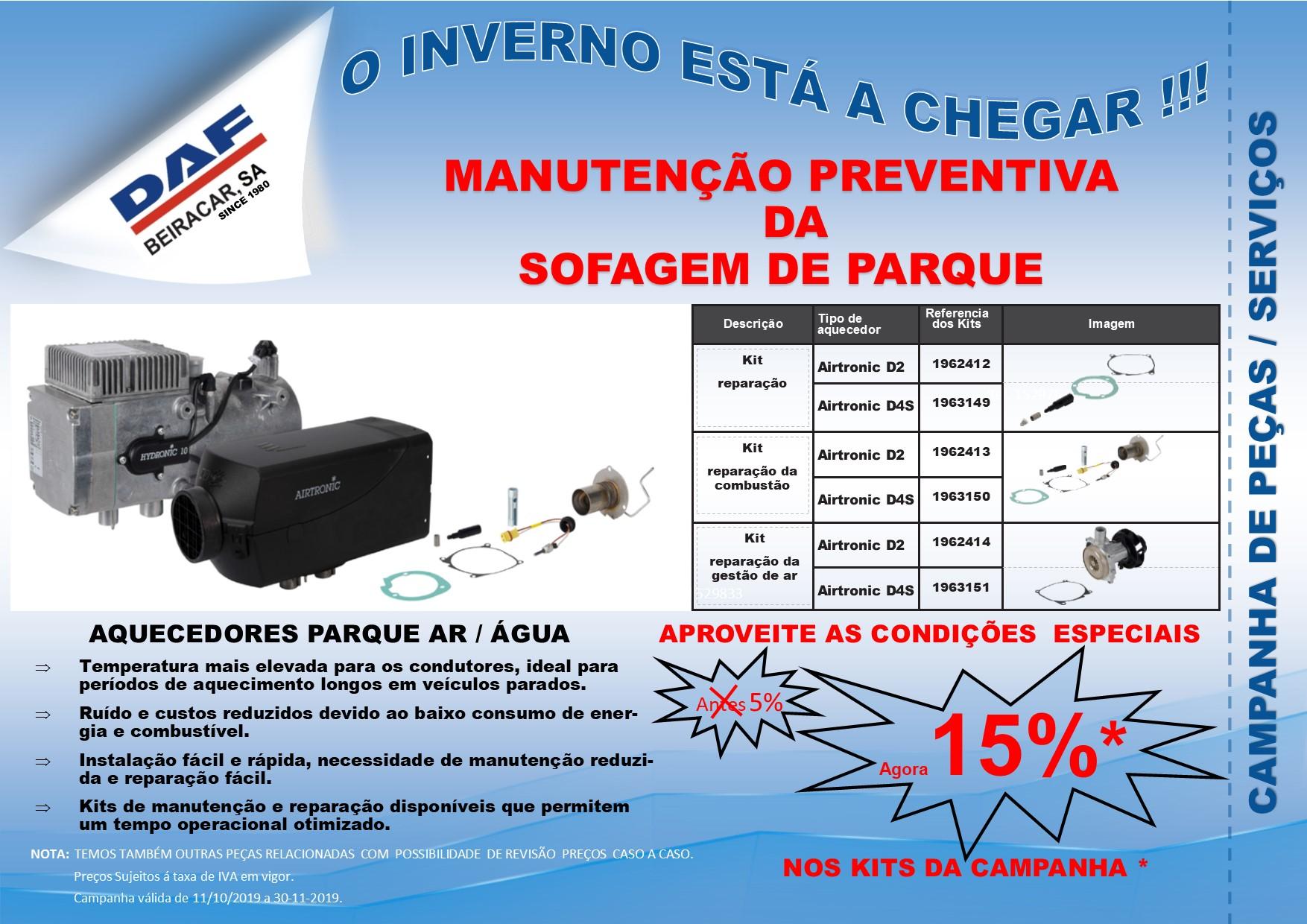 CAMPANHA - MANUTENÇÃO PREVENTIVA DA SOFAGEM DE PARQUE
